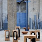SN_Kaspar Hamacher_Ausgebrannt Stools + Stein Walnut and Oak